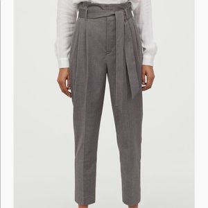 H&M Grey Paperbag style trousers